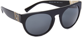 Versace Greca Flat Top Sunglasses