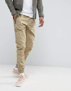 Pull&Bear Regular Fit Joggers In Tan