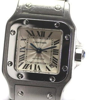 Cartier Santos Stainless Steel Automatic 24mm Mens Watch