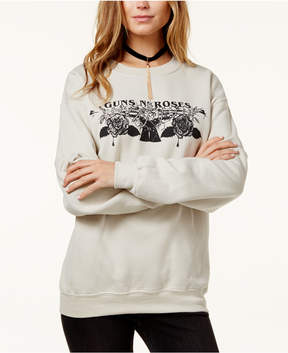 Bravado Juniors' Guns & Roses Graphic Sweatshirt