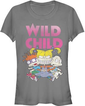 Fifth Sun Charcoal 'Wild Child' Rugrats Tee - Juniors