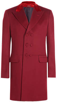 Alexander McQueen Wool Coat with Velvet