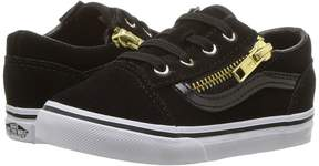Vans Kids Old Skool Zip Black/Gold) Girls Shoes