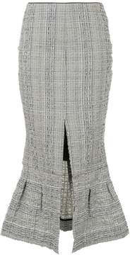 CHRISTOPHER ESBER check flared slit detail skirt