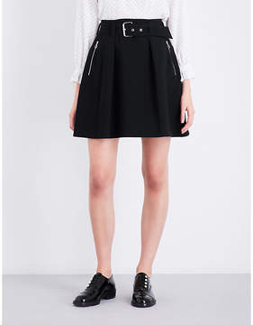 Claudie Pierlot A-line high-rise woven skirt