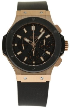 Hublot Big Bang Evolution 301.PM.1780.RX 18K Rose Gold/Ceramic & Rubber Automatic 44mm Mens Watch