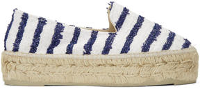 Manebi White Striped Paris Espadrilles