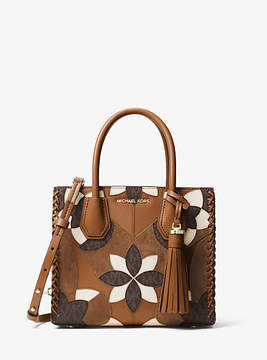 Michael Kors Mercer Floral Patchwork Leather Crossbody - BROWN - STYLE