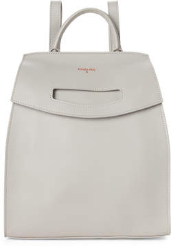 Patrizia Pepe Warm Grey Leather Backpack