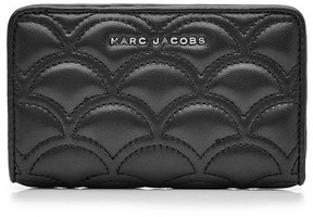 Marc Jacobs Matelassé Compact Leather Wallet - BLACK - STYLE