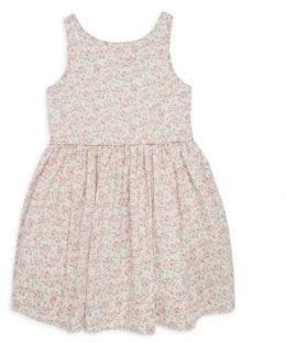 Ralph Lauren Little Girl's and Girl's Rose Print Poplin Dress