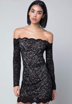 Bebe Scallop Lace Dress
