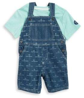Calvin Klein Jeans Baby Boy's Two-Piece Tee and Denim Overalls Set