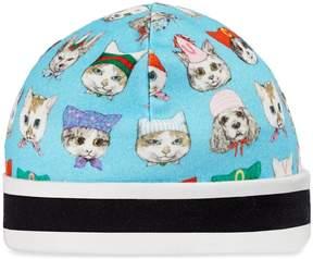 Gucci Baby pets print cotton hat