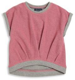Andy & Evan Toddlers & Little Girls French Terry Sweat Top