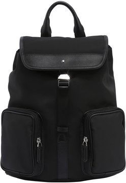 Sartorial Jet Leather & Nylon Backpack