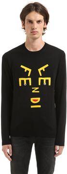 Fendi Face Felt Patches Wool Sweater