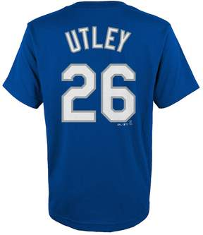Majestic Boys 8-20 Los Angeles Dodgers Chase Utley Player Name and Number Tee