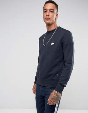 Ellesse Italia Chevron Sweatshirt In Navy