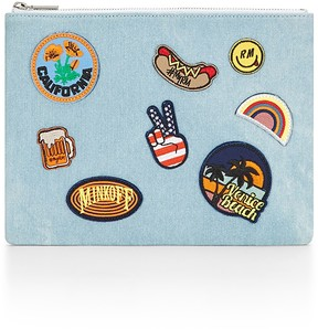 Rebecca Minkoff Denim Pouch With Patches - ONE COLOR - STYLE