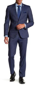 Nick Graham Navy Two Button Notch Lapel Trim Fit Suit