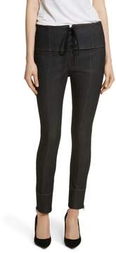 Cinq à Sept Andie Lace Front Skinny Ankle Jeans