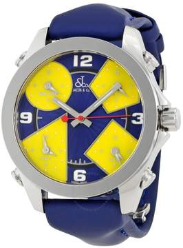 Jacob & co Jacob and Co. Five Time Zone Blue and Yellow Dial Men's Watch