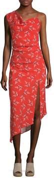 ABS by Allen Schwartz Women's Floral-Print One Shoulder Dress