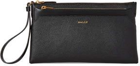 Bally Black Heddon Leather Wristlet