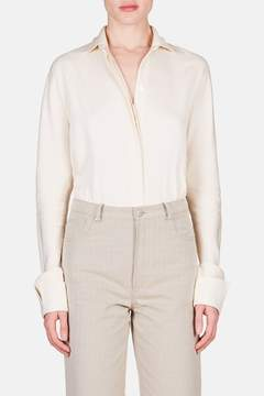 J.W.Anderson | Long Sleeve Button Up Bodysuit - Calico | Neutral