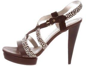 Marc by Marc Jacobs Ponyhair-Trimmed Platform Sandals