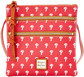 Dooney & Bourke Philadelphia Phillies Triple Zip Crossbody Bag - RED - STYLE