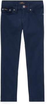 Ralph Lauren | Embroidered Sateen Skinny Jean | 6 years | Black