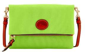 Dooney & Bourke Nylon Foldover Zip Crossbody Shoulder Bag - APPLE GREEN - STYLE