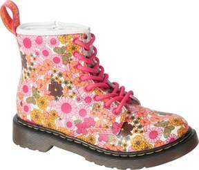 Dr. Martens Unisex Children's Delaney Pink Vintage Daisy Softy T Size 11 M