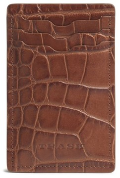 Trask Men's 'Jackson' Money Clip Wallet - Brown