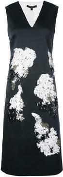 Derek Lam V-Neck Shift Embellished Dress