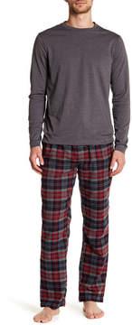 Joe Fresh Long Sleeve Tee & Flannel Pajama Bottoms Set
