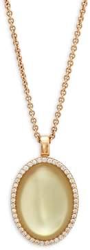 Roberto Coin Women's Quartz & Diamond Yellow Gold Pendant Necklace