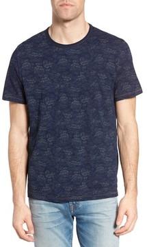 Jeremiah Men's Swell Print Indigo Slub Jersey T-Shirt