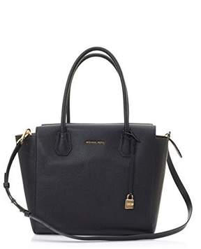 Michael Kors Mercer Large Leather Tote - BLACK - STYLE