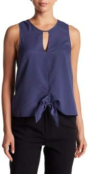 BCBGeneration Tie Front Tank Top