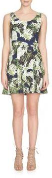 Cynthia Steffe Sleeveless Garden Print Dress