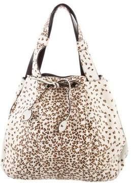 Alaia Printed Ponyhair Bucket Bag