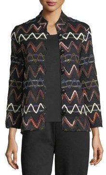 Caroline Rose Zigzag Striped Jacket