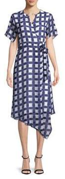 Ellen Tracy Plaid Wrap Dress