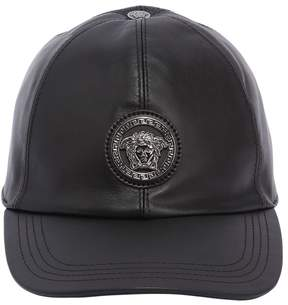 Versace 3d Medusa Leather Baseball Hat