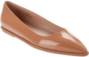 Tod's Pointy Toe Patent Leather Ballerina Flat
