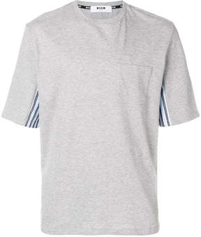 MSGM stripe panel T-shirt