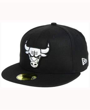 New Era Chicago Bulls Black White 59FIFTY Cap